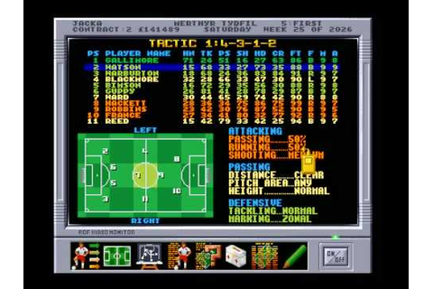 -Amiga- Premier Manager 3 Tactics - YouTube