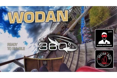 360° Ready to Rumble | Wodan GCI Wooden Roller Coaster ...