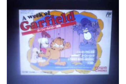 "Request AVGN ""A Week of Garfield"" Famicom Game - YouTube"