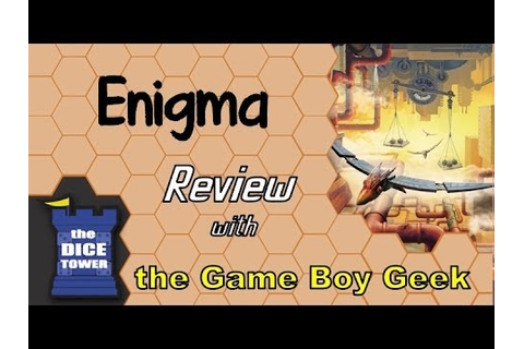 Enigma Review - with the Game Boy Geek - YouTube