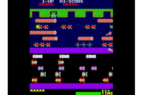 Arcade Game: Frogger (1981 Konami) - YouTube
