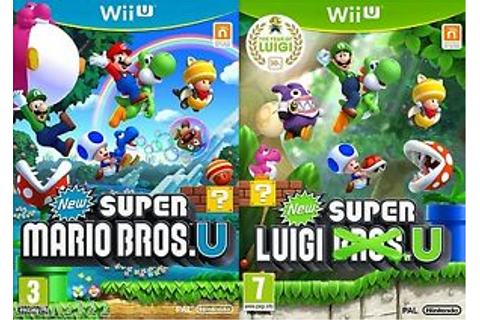 NEW SUPER MARIO BROS. U & SUPER LUIGI U *BRAND NEW ...
