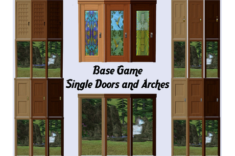 Mod The Sims - Base Game Single Doors - Part 1