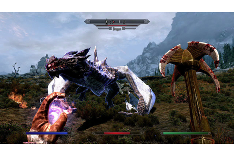 The Elder Scrolls V: Skyrim - Dragon Gameplay (PC, PS3 ...