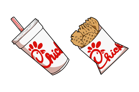 Chick-fil-A Soda Drink and Waffle Potato Fries cursor ...