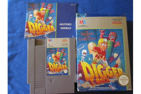 Digger T.Rock the Legend of the Lost City Nintendo Game ...