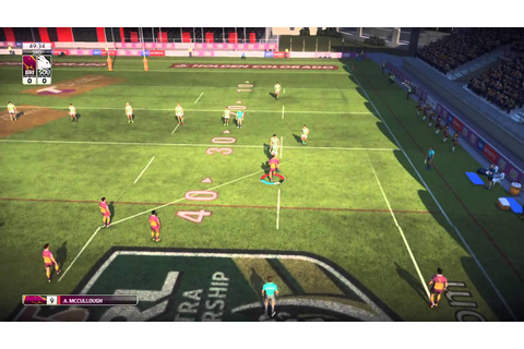 Rugby League Live 3 - My First Game! - YouTube