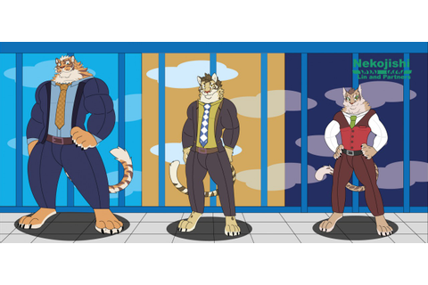 Nekojishi Lin and partners all 3, Fan art by blizzardbeast ...