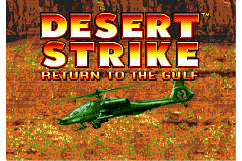 Play Desert Strike - Return To The Gulf Sega Genesis ...