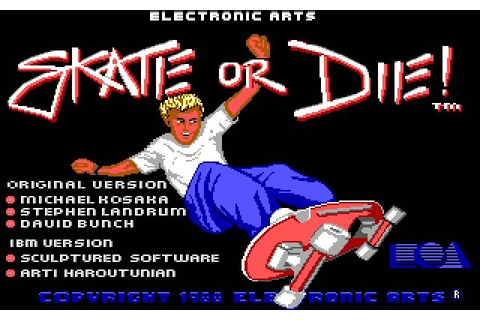 Download Skate or die sports for DOS (1988) - Abandonware DOS