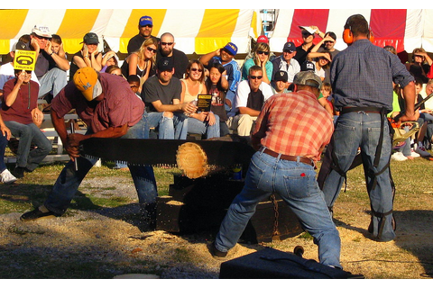 Lumberjack Games: Log cutting | At the 2007 TN State Fair ...