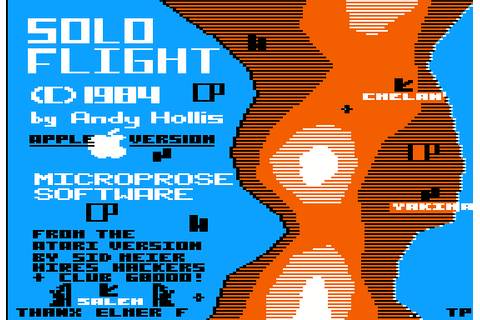 Solo Flight (1984) by MicroProse Apple II E game