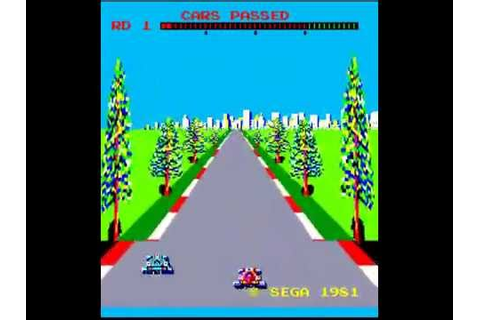 Arcade Game Turbo 1981 Sega - YouTube