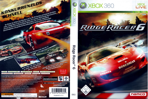 Games Covers: Ridge Racer 6 - Xbox 360