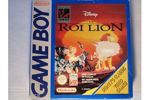 DISNEY LE ROI LION GAME BOY LE ROI LION NINTENDO GAME BOY ...