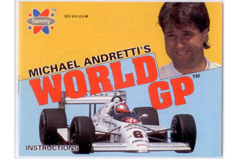 Manual Michael rettis World GP Nintendo NES Instructions ...
