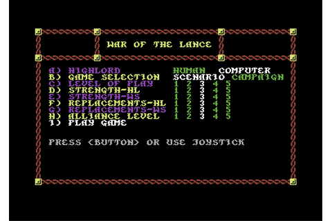 Download War of The Lance - My Abandonware