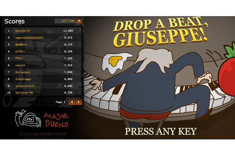 Free Play and Download Flash Game Drop A Beat, Giuseppe ...