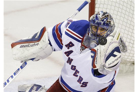 Lundqvist makes 30 saves to lead Rangers past Sharks 3-1