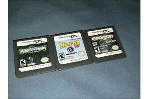 NINTENDO DS GAME LOT! TANK BEAT! ERAGON! HAMSTERZ LIFE! | eBay