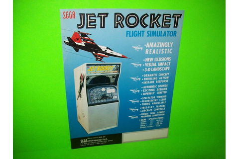 JET ROCKET By SEGA 1970 ORIGINAL NOS FLIGHT SIMULATOR ...