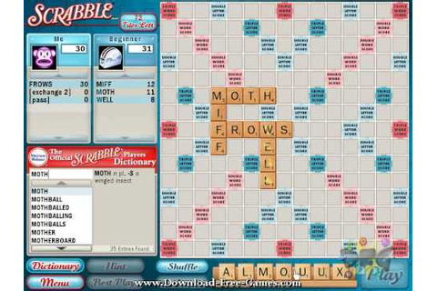 Official SCRABBLE PC Game - Game Play Video - YouTube