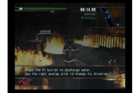 Firefighter F.D. 18 PS2 - First Cinematic Scene + Part 1 ...