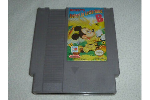NINTENDO NES VIDEO GAME CARTRIDGE ONLY MICKEYS SAFARI IN ...