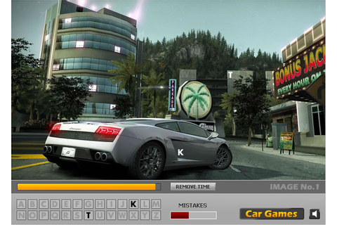 Race Car Games Online: Super Cars Hidden Letters