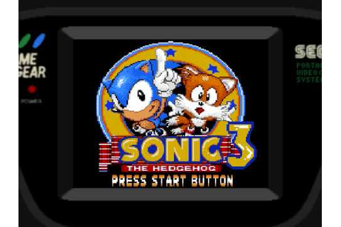 Sonic The Hedgehog 3 Game Gear Edition - YouTube