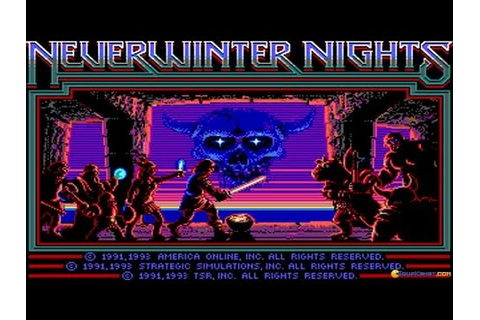Neverwinter Nights gameplay (PC Game, 1991) - YouTube