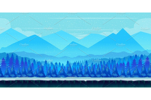 Winter Game Background ~ Illustrations ~ Creative Market