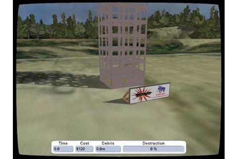 Building Demolition Simulation Game Detonate - YouTube