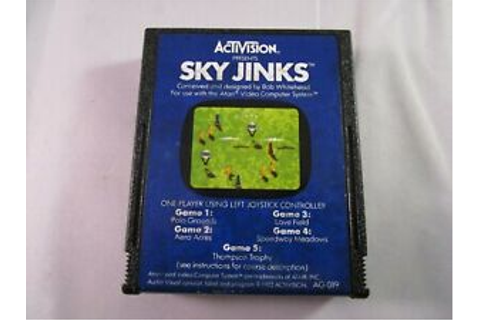 SKY JINKS by Activision - Clean Tested Working Atari 2600 ...