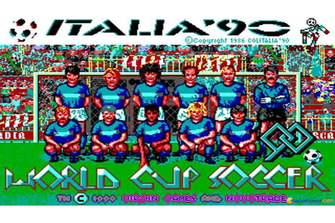 World Trophy Soccer gameplay (PC Game, 1989) - YouTube