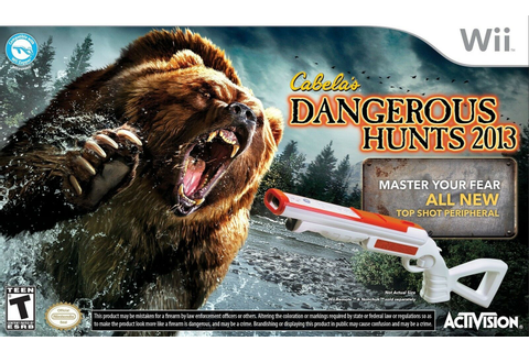 NEW Wii/Wii-U Cabela's DANGEROUS HUNTS 2013 Game & Gun ...