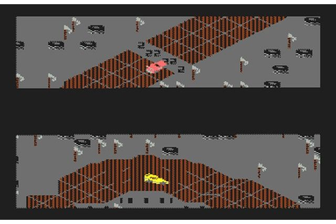 Racing Destruction Set on the C-64. A great racing game ...