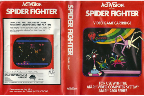 Atari 2600 VCS Spider Fighter : scans, dump, download ...