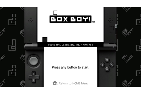 BOXBOY! - 25 Minute Playthrough [3DS] - YouTube