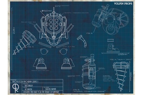 Big Daddy blueprint poster | Blueprints