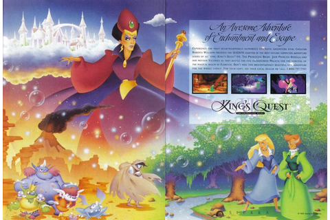 Two-page ad for King's Quest VII: The Princeless Bride ...