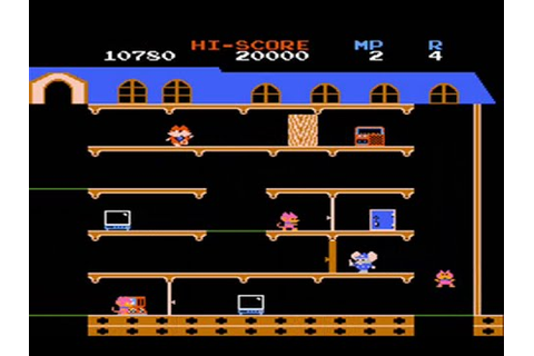 Mappy - Nes - Full Playthrough - No Hits Run - YouTube