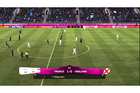 UEFA Euro 2012 France vs England Gameplay Match Prediction ...