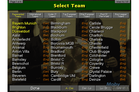 Download Championship Manager: Season 97/98 - My Abandonware