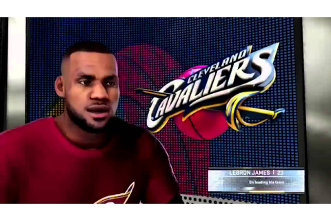 NBA 2k16 - NEW In-Game Interviews! Ft. Lebron James - YouTube