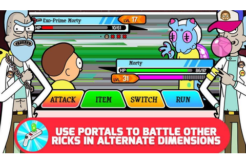 Pocket Mortys (a Rick and Morty pokemon app) | Video Games ...