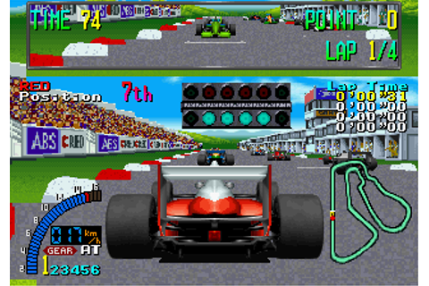 F1 Exhaust Note arcade video game by SEGA Enterprises, Ltd ...