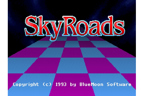 Download SkyRoads | DOS Games Archive