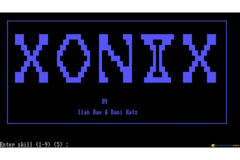 Xonix gameplay (PC Game, 1984) - YouTube