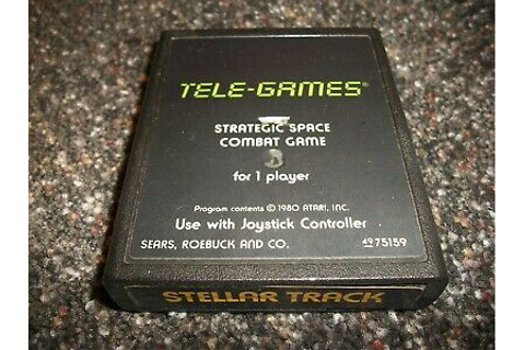 Atari 2600 Game ~ Stellar Track ~ Game Cartridge Only ...